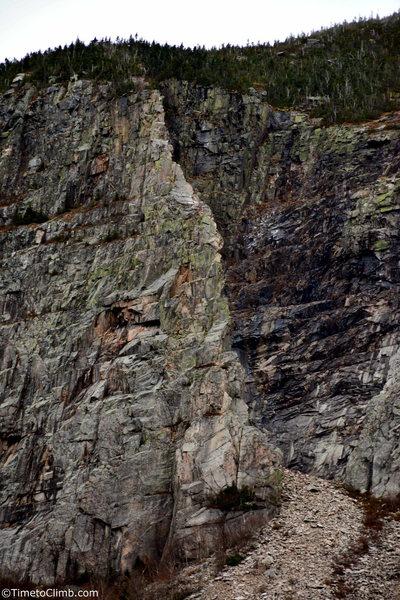 Full view of the Whitney Gilman Ridge<br>