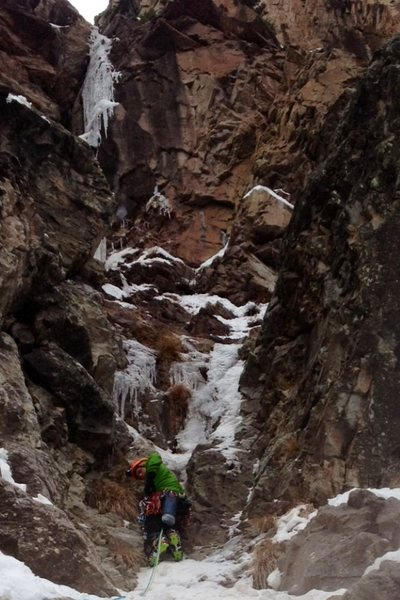 Rock Climbing Photo: Rock of Ages. The right side. First pitch. Colby R...