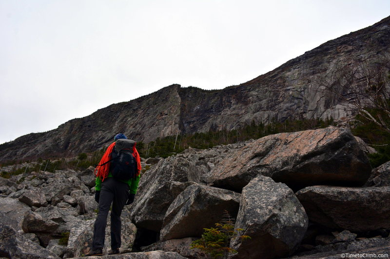 The approach to the Whitney Gilman Ridge<br>