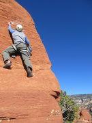 Rock Climbing Photo: placing summit block bolt