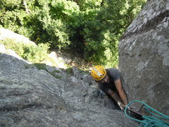Rock Climbing Photo: Top of pitch one