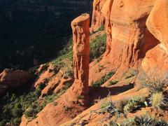 Rock Climbing Photo: Secret Spire as seen from Rotten Rock spire