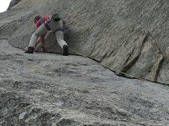 Rock Climbing Photo: Z man leading 3rd pitch