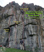 Rock Climbing Photo: Several of the routes on Echo Point.