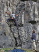 Rock Climbing Photo: Nick Vitali, Yo-Yo-Ma-Ma, 11a (May 2014)
