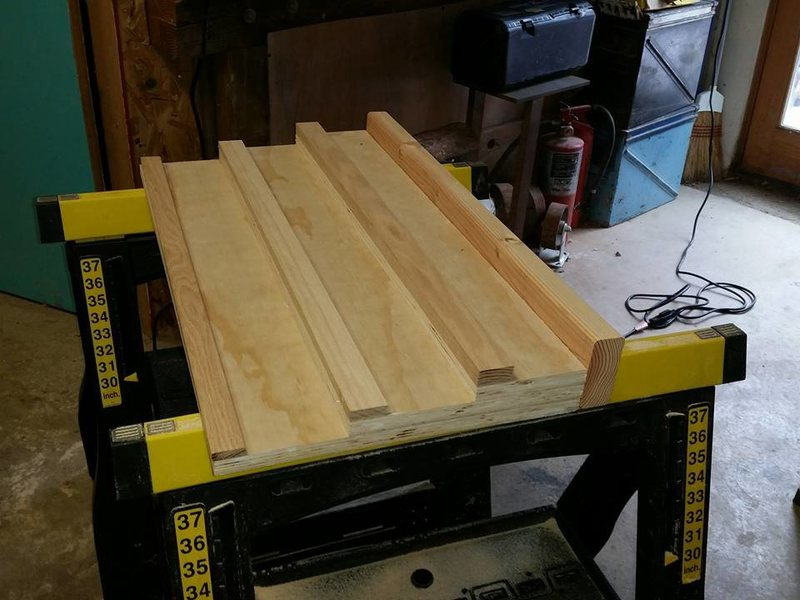 DIY Hangboard, fabricated parts.