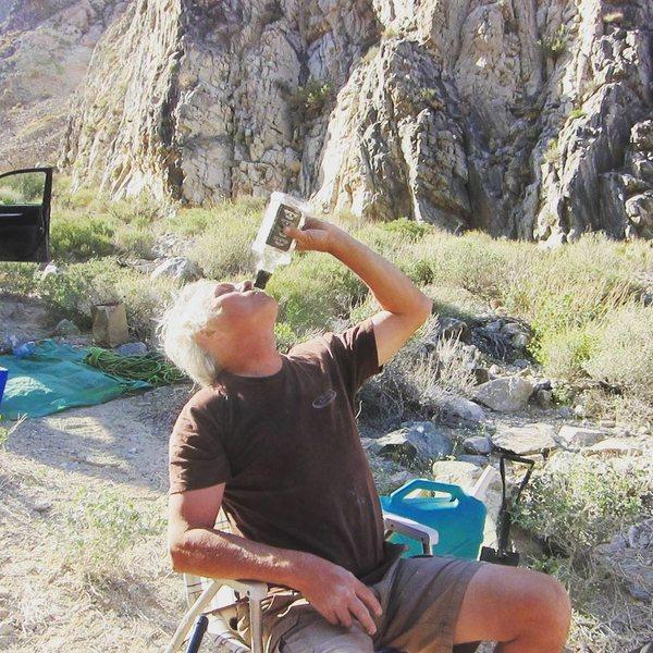 Rock Climbing Photo: Bottom of the bottle