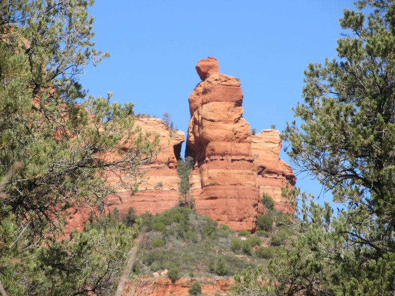 As seen from the trail