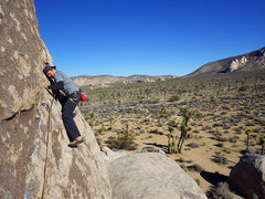 Rock Climbing Photo: Will halfway across the traverse.  Dec 2015.