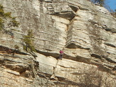 Rock Climbing Photo: Nice shot from the hairpin on 12 December of someo...