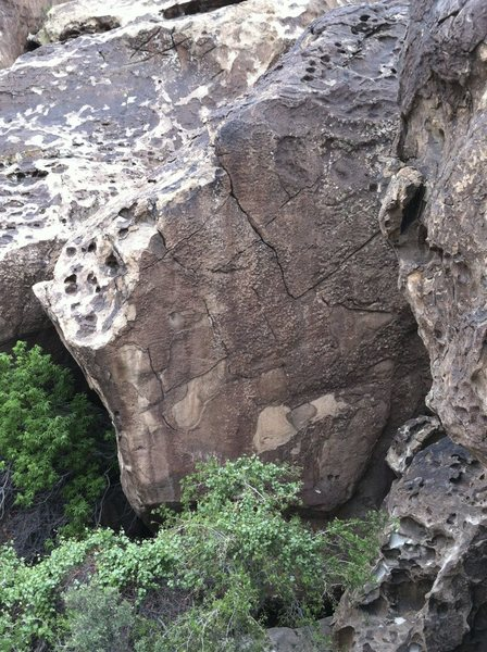 Rock Climbing Photo: Fire it up is the left arete in the photo.  Fire P...