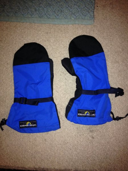 Size large Climb-High shell over-mitts