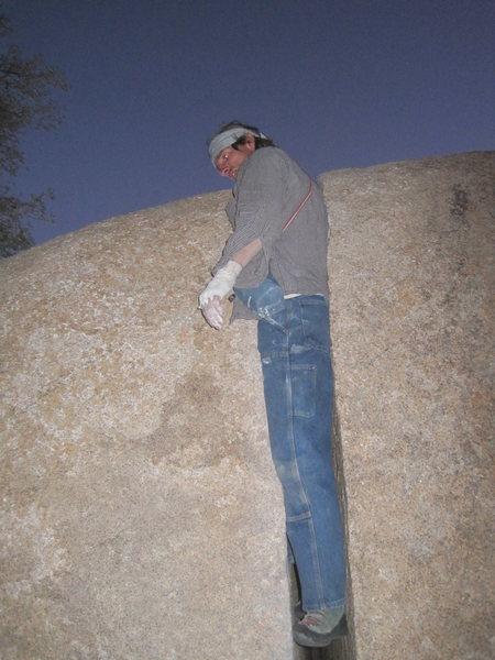 Rock Climbing Photo: stuck between a rock and a hard place