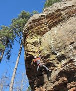 Rock Climbing Photo: Mike plugging in some confidence!