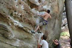 Rock Climbing Photo: Fuzzy Undercling - May 2015