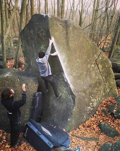 Rock Climbing Photo: On a cold day in December 2015