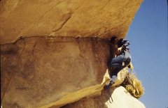 Rock Climbing Photo: Ken Rose learning aid on the Golden Bush in 1971 w...