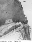 Rock Climbing Photo: Climbing High Exposure 1973