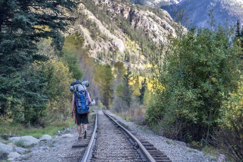 en route to wham ridge<br> Fall 2015<br> Photo by Carl Schnitker