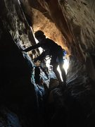 Rock Climbing Photo: Namesake pitch of Tunnel Vision Red Rock, NV Nov 2...