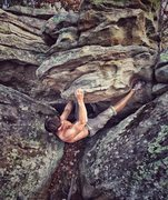 """Rock Climbing Photo: The sit start of """"Ankle Biter"""". Both fee..."""