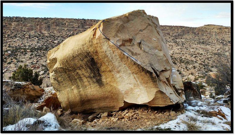 Rock Climbing Photo: Nativity problem beta.