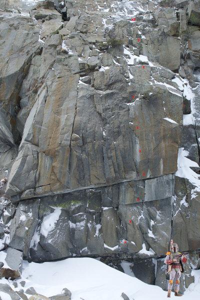 Rock Climbing Photo: Boba Fett route line.