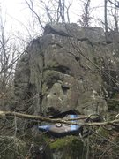 Rock Climbing Photo: Starts down and left of the pad on a flat edge.