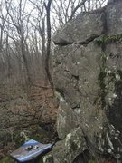 Rock Climbing Photo: Another angle of 'Zoo'.  The problem starts around...