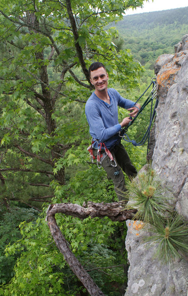 Hanging out at Jamestown Crag, AR.