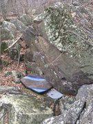 Rock Climbing Photo: Starts just right of the pad and follows the risin...