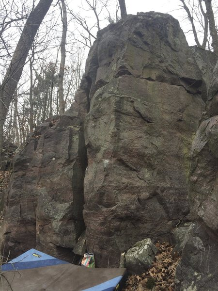Rock Climbing Photo: Starts left hand on the left arete and right on th...