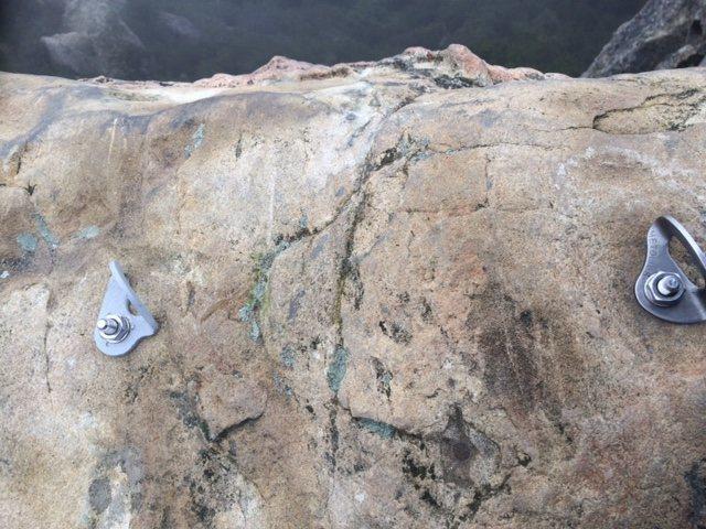 Rock Climbing Photo: Sketchy bolt