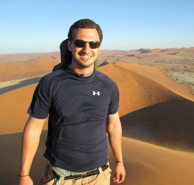 Hiking sand dunes in Namibia