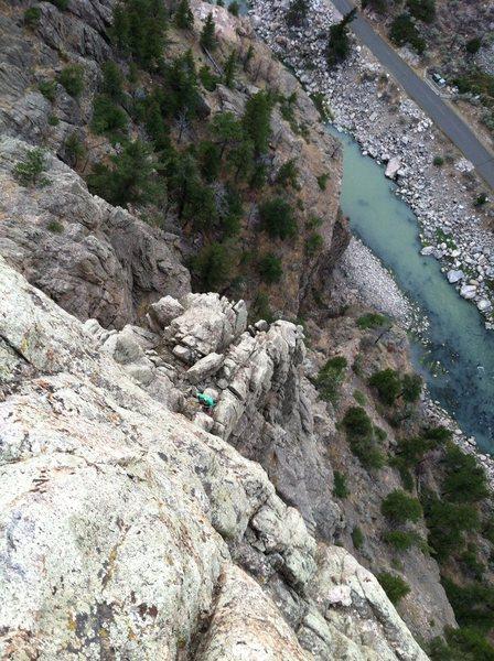 Rock Climbing Photo: Pitch 4 belay station