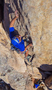 Rock Climbing Photo: Leading the upper face.  Photo by Andre.  Dec 2015...