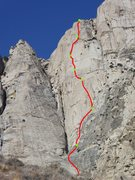 Rock Climbing Photo: Route overlay by MM