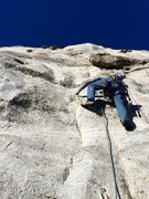 Rock Climbing Photo: Myles Moser leading P4.