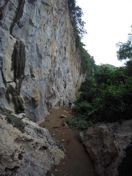 Rock Climbing Photo: Pasak River Crag, just 5 minutes hike & ziplining ...