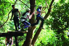 Fun ziplinning accross Pasak River