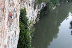 Rock Climbing Photo: route next to the river
