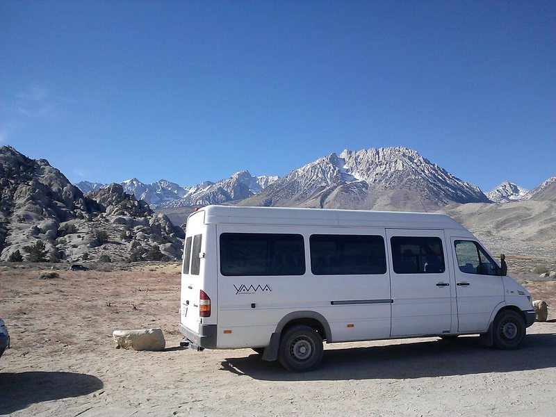 Parked at the Buttermilks! So much ground clearance!!