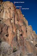 Rock Climbing Photo: Stairway starts up a nice hand crack, though it wo...
