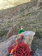 Rock Climbing Photo: My 9yr old topping out!