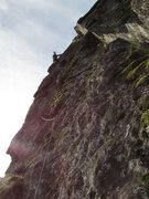 "Rock Climbing Photo: This is the 2nd pitch after the ""cave feature..."