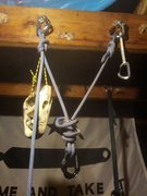 Rock Climbing Photo: BFK  Advantages: Fat knot helps keep the carabiner...
