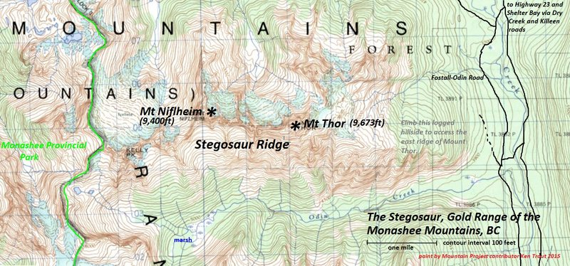 The Stegosaur, Gold Range/Kootenays<br> <br> The traverse has been done!  Not granite...