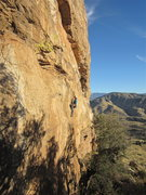 Rock Climbing Photo: Jimbo on a brand new route at the Ruins. 5.11+ thi...