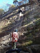Rock Climbing Photo: Beauty Beta shot of Fine Nine (5.9+)