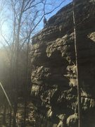 Rock Climbing Photo: The Top-out viewed from the approach from the dogw...